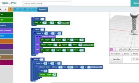 Il nostro nuovo software per modellare in 3D con il coding