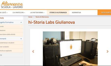 Hi-Storia Labs Giulianova tra le buone pratiche dell'alternanza scuola lavoro